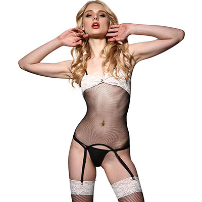 Hustler 3PC Peek-a-boo Garter Set